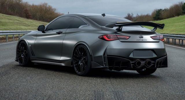 2019 Infiniti Q60 rear view