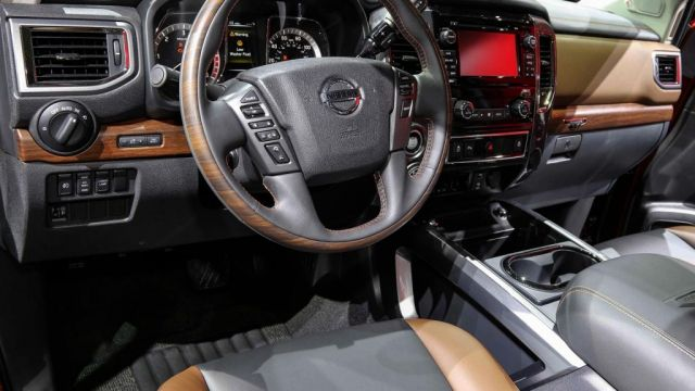 2019 Nissan Armada interior view