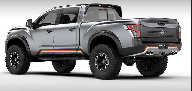 2019 nissan titan xd rear view