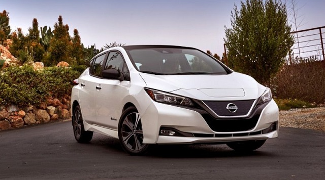 2019 nissan leaf front view