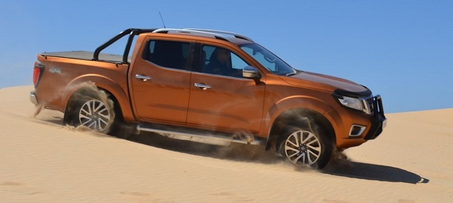 2020 Nissan Frontier side view