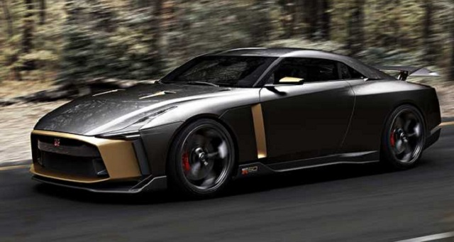 2019 nissan gt-r side view