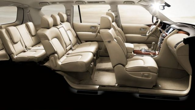 2020 Nissan Patrol seats