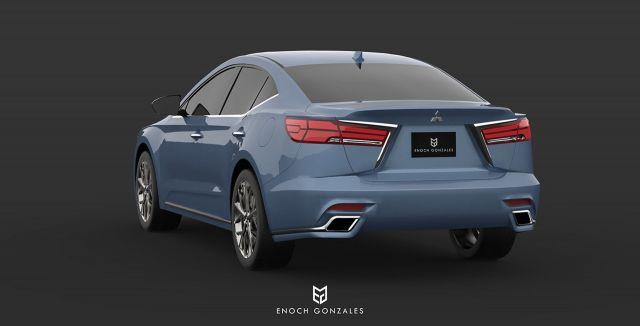 2020 Mitsubishi Galant rear