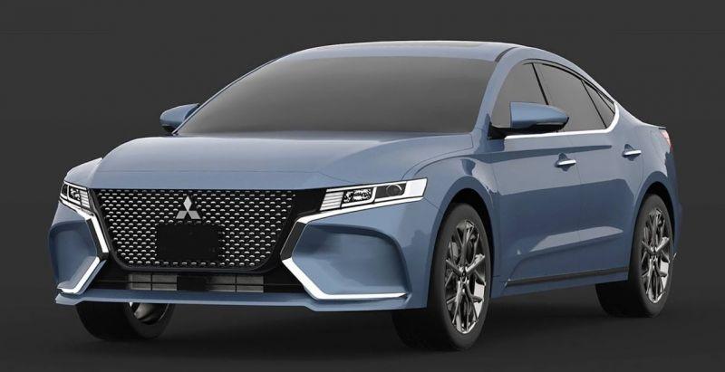 2020 Mitsubishi Galant front