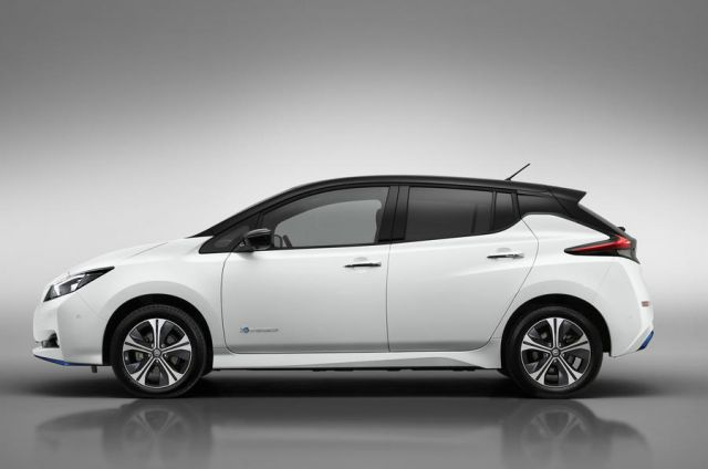 2020 Nissan Leaf E+ side