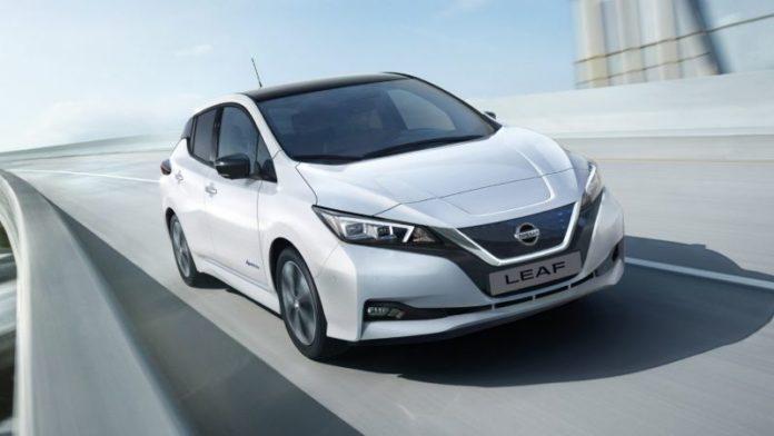 2020 Nissan Leaf Plus front