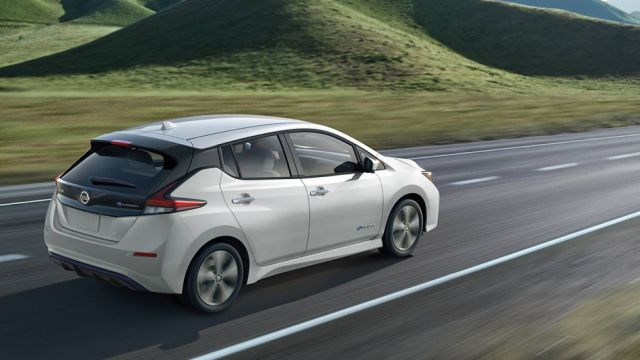 2020 Nissan Leaf Plus side