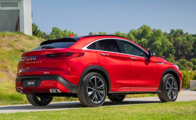 2022 Infiniti QX55 rear view